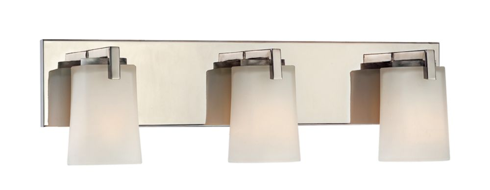 Wellman Polished Nickel Vanity Fixture - 3 Light