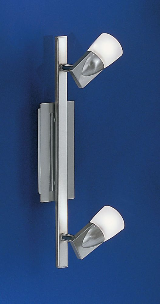 CETUS Track Light 2L, Matte Nickel and Chrome Finish with Frosted Glass