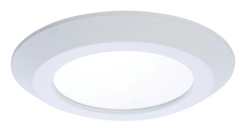 Luminaire rond 15 cm blanc à DEL, montage en saillie, boîtiers encastrés