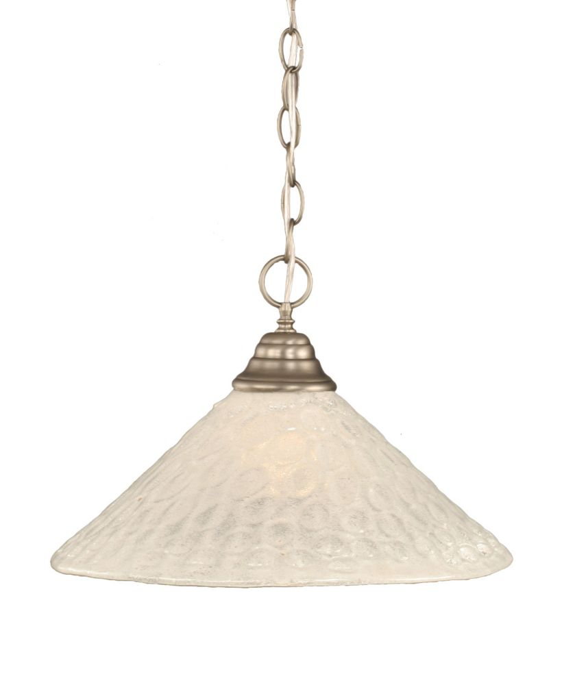 Concord 1-Light Ceiling Brushed Nickel Pendant with a Clear Crystal Glass
