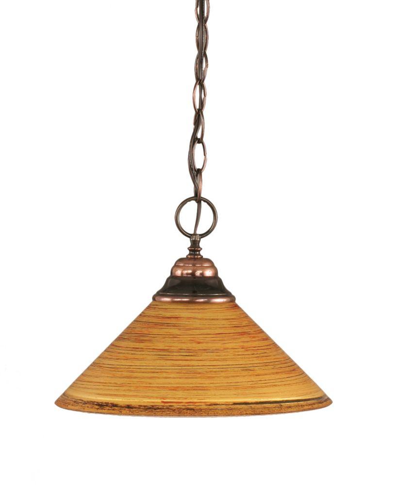 Concord 1 lumière au plafond Noir Copper Pendeloque incandescence par une  Saturne verre