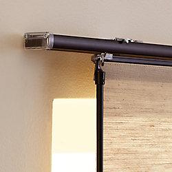 Home Decorators Collection Rail supérieur de rail de panneau, Noir, 198 cm L (Largeur réelle 198 cm)