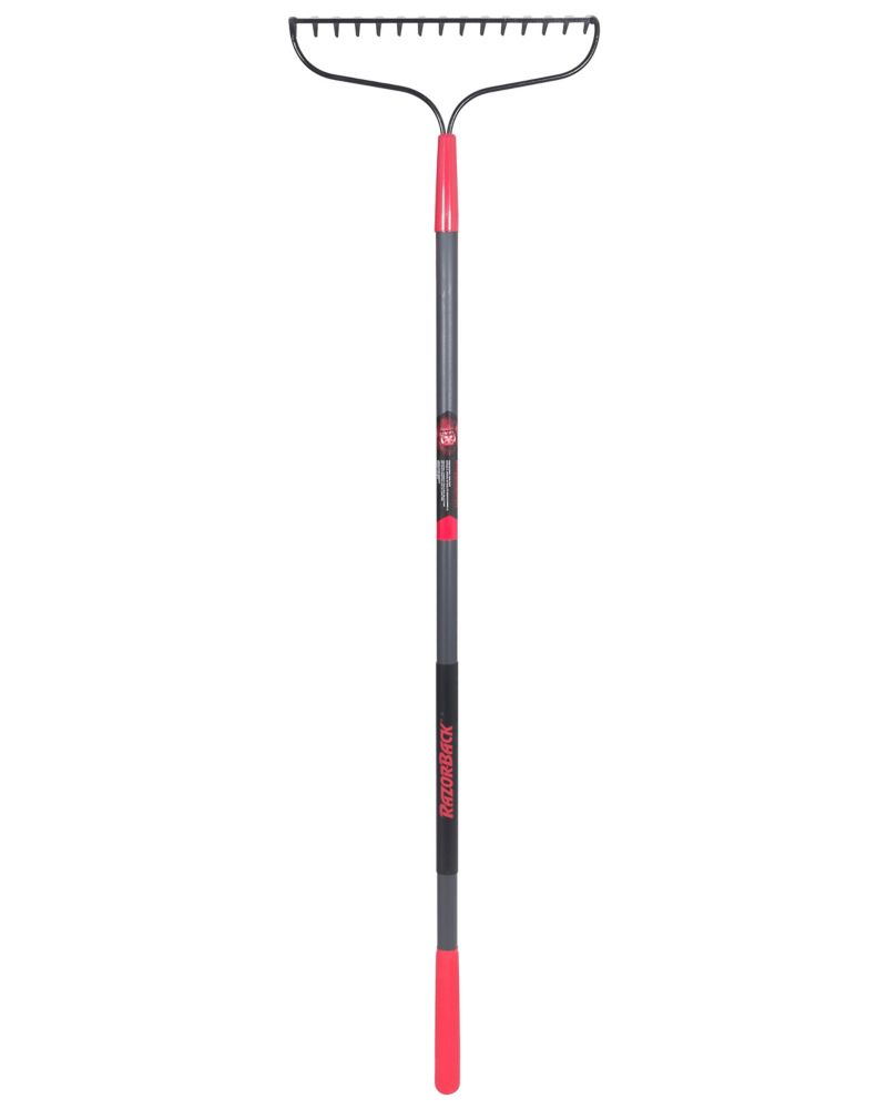 Razorback Bow Rake with Fiberglass Handle