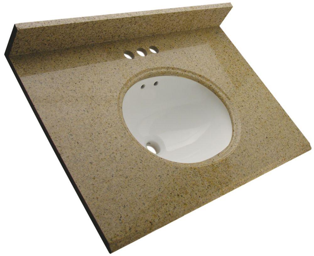Foremost International Dessus de meuble-lavabo en granite Beige mohave  – 37 po