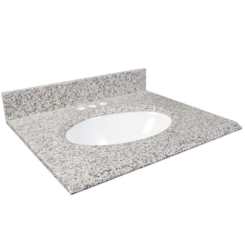 31-Inch W Granite Vanity Top in White Ash