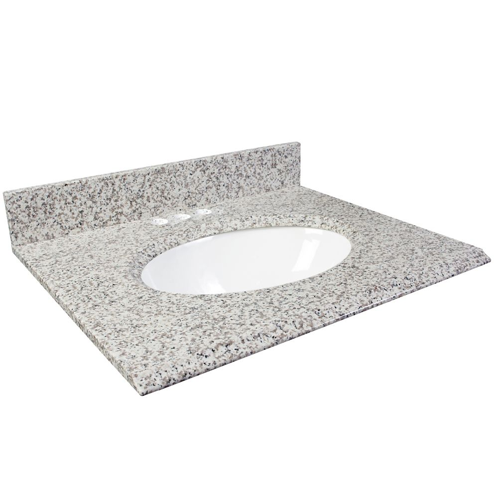 Foremost International 37-Inch W Granite Vanity Top in White Ash
