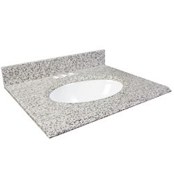 Foremost 37-Inch W Granite Vanity Top in White Ash