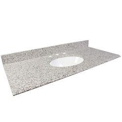 Foremost International 49-Inch W Granite Vanity Top in White Ash
