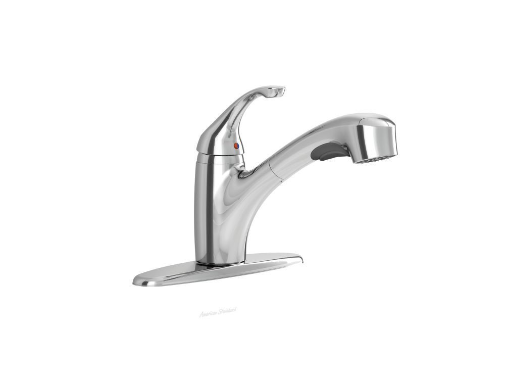 Jardin Single Handle Pull Out Kitchen Faucet In Polished Chrome