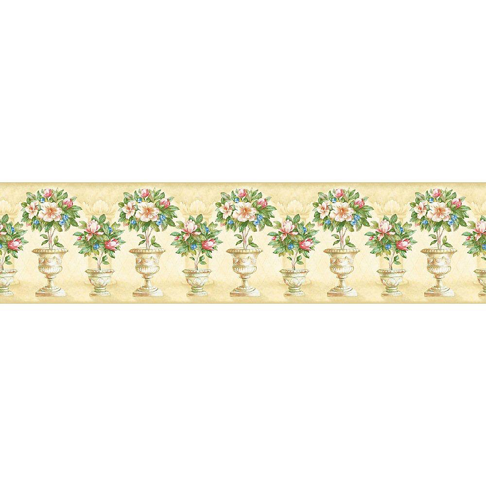 5.13 In. H Pastel Floral Topiary Border