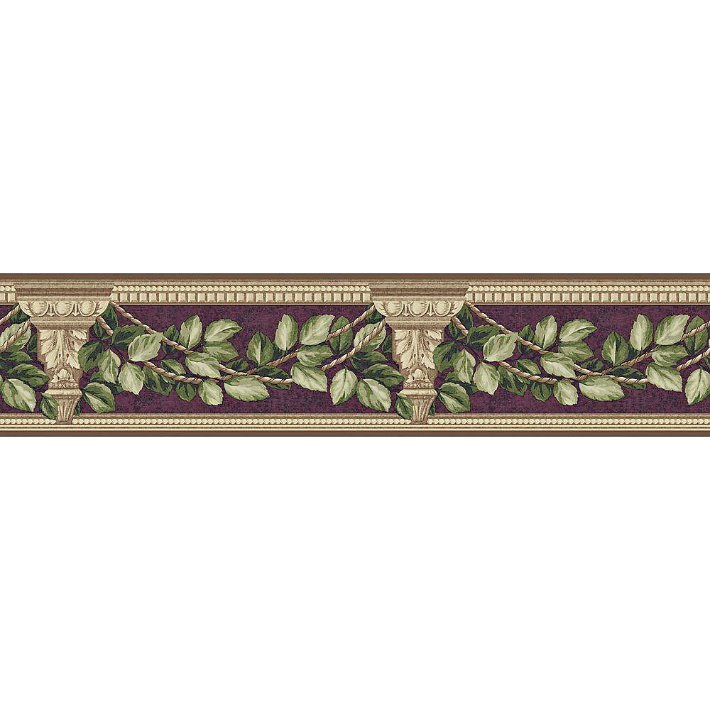 4.75 In. H Purple Architecture and Leaves Border