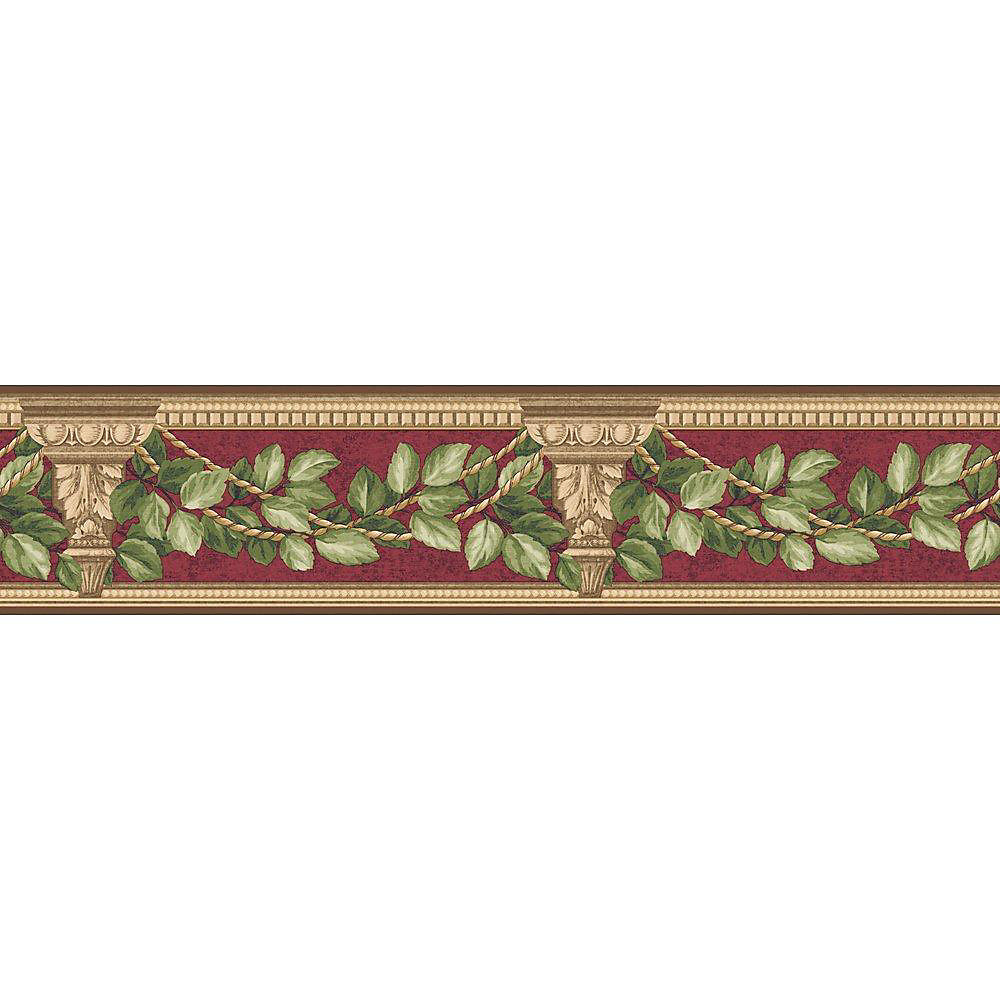 4.75 In. H Red Architecture and Leaves Border