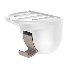 Porte-savon à ventouses - blanc