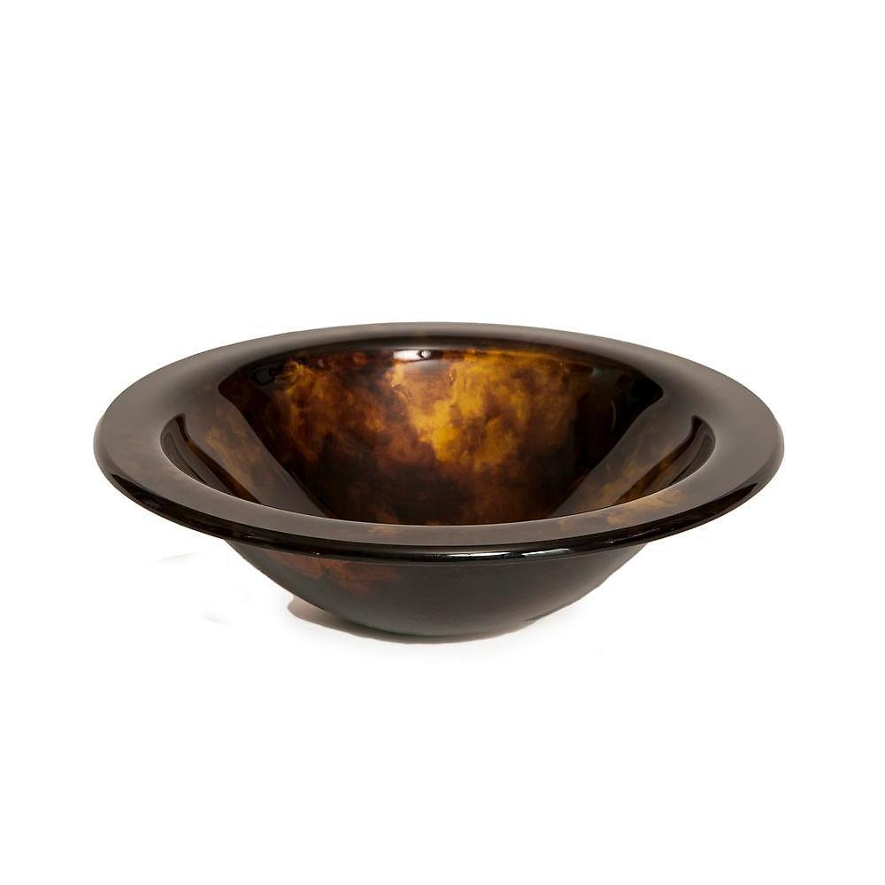 Designer Glass Sink in Tortoise Shell