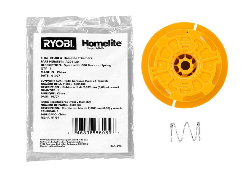 Homelite Ryobi 0.080 in. Replacement Line on Spool
