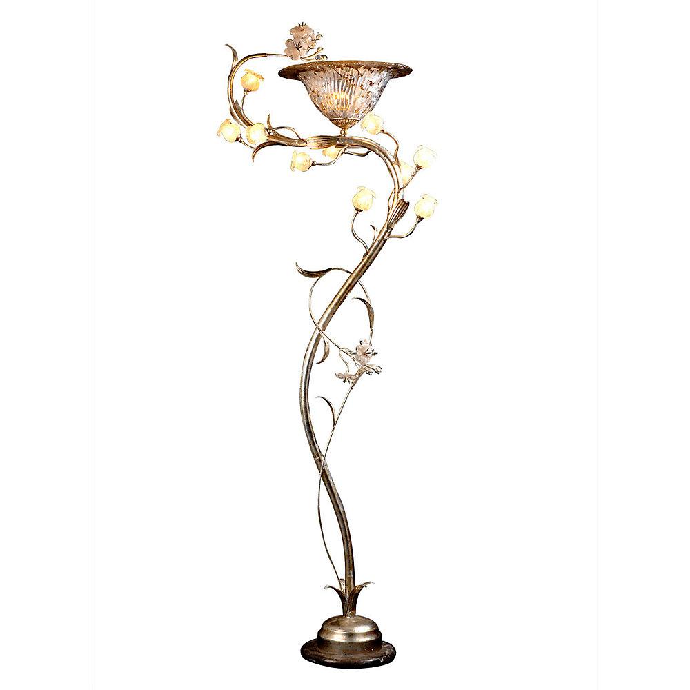 11 Light Floor Lamp With Flowers