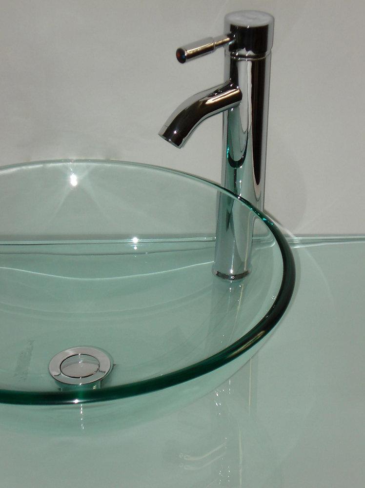 31-Inch W Glass Vanity Top