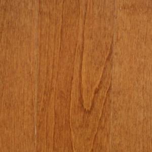 Dark Gunstock Birch 3/8  Inches  Thick x 4-(1/4  Inches  Width x Random Length Engineered Click H...