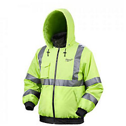 Milwaukee Tool M12  High Visibility  Heated Jacket With Battery - Large