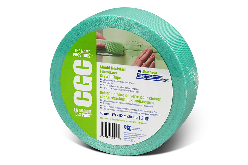 CGC Fiberglass Mould Resistant Drywall Tape, 2 in x 300 ft Roll