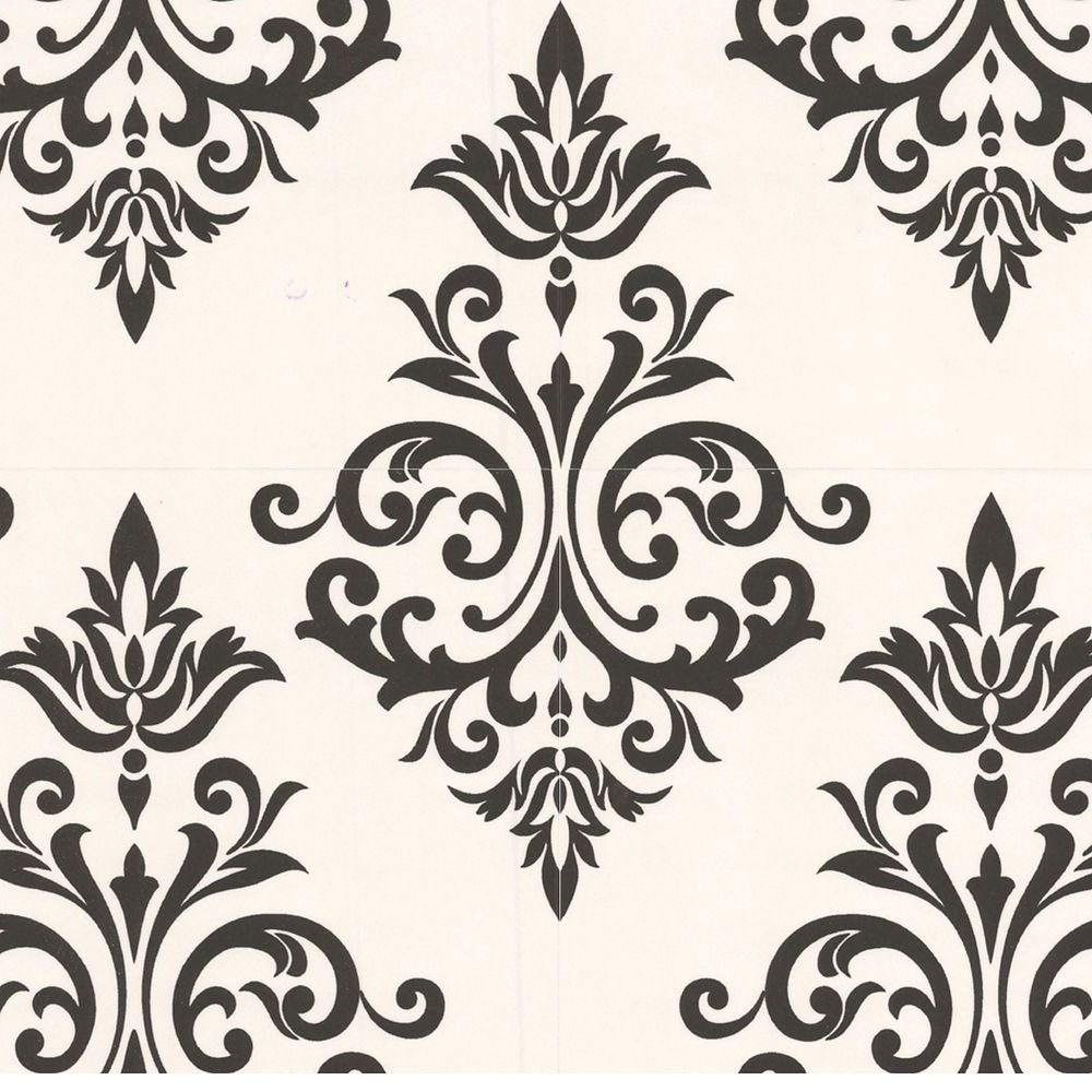 Pallade Black & White Modern Living Wallpaper