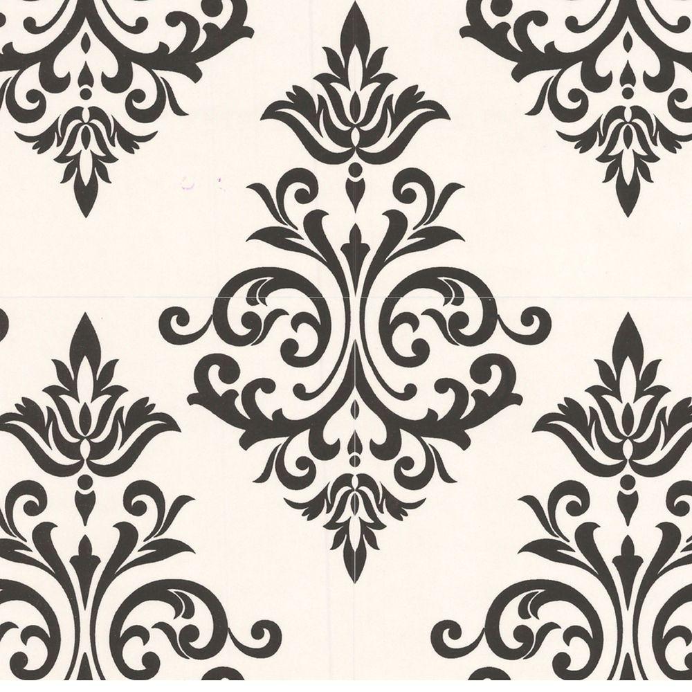 Pallade Black/White Wallpaper