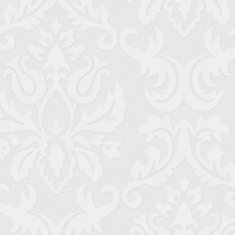 56 sq. ft. Large Damask Paintable White Wallpaper