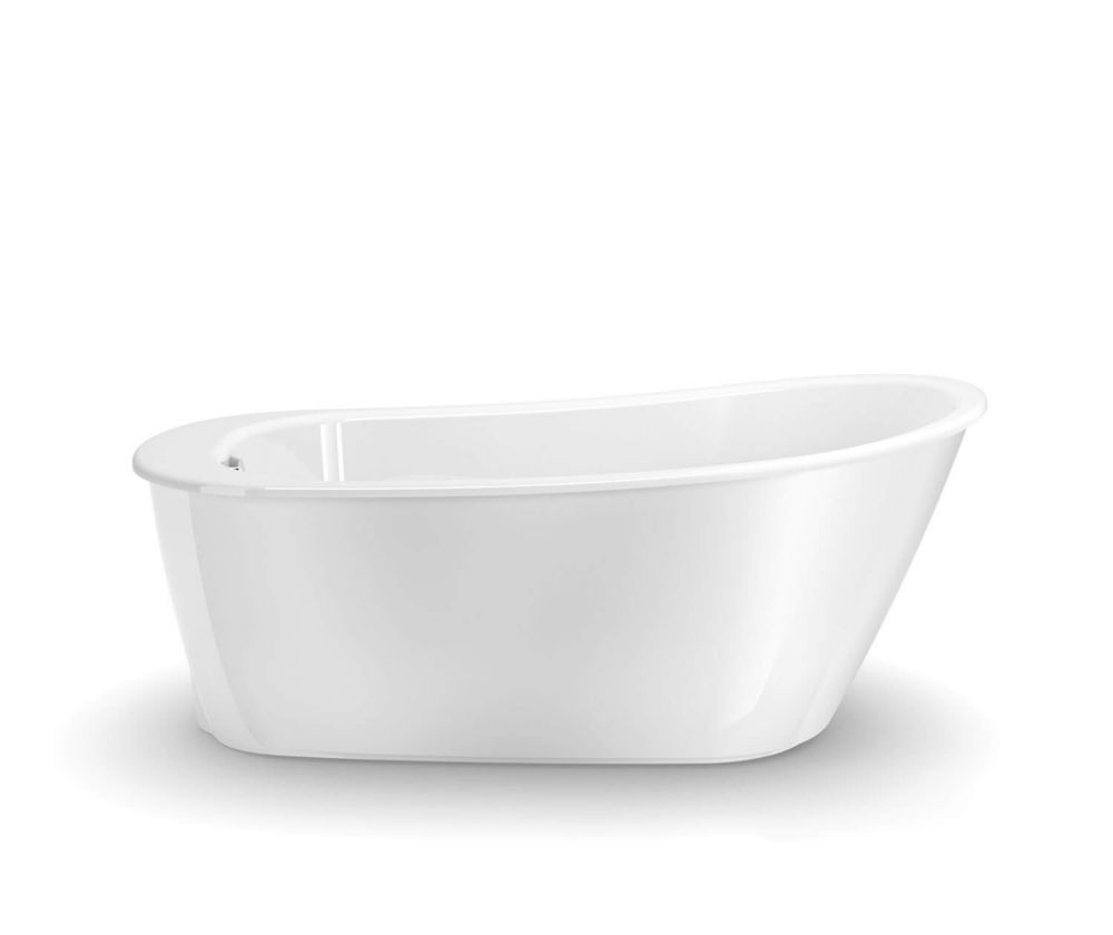 Sax Freestanding Soaker Tub in White