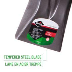 Garant Pelle carrée à dos creux en acier Garden Care, appuis-pieds vers l'avant et poignée ergonomique
