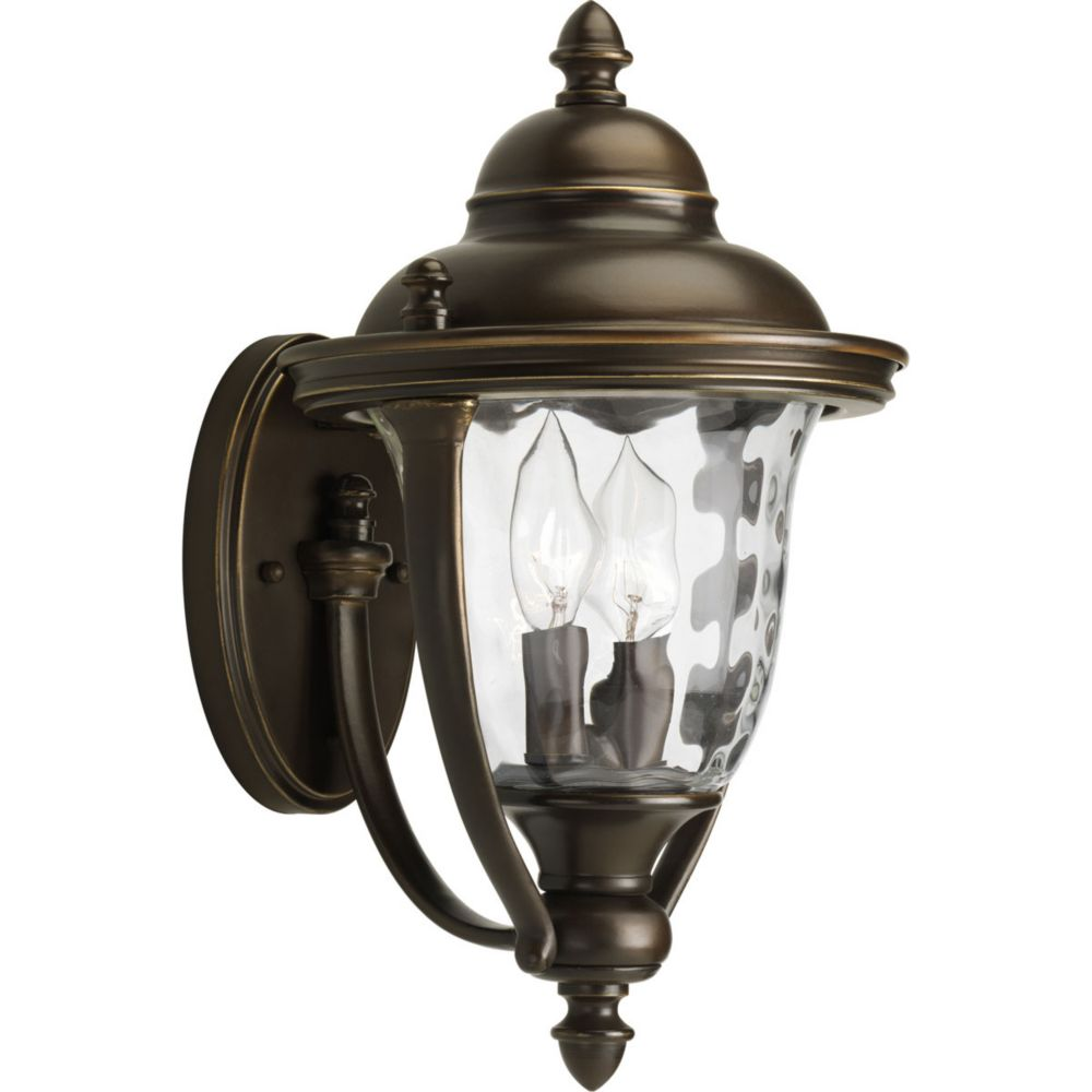 Prestwick Collection 2-light Oil Rubbed Bronze Wall Lantern P5921-108DICA in Canada