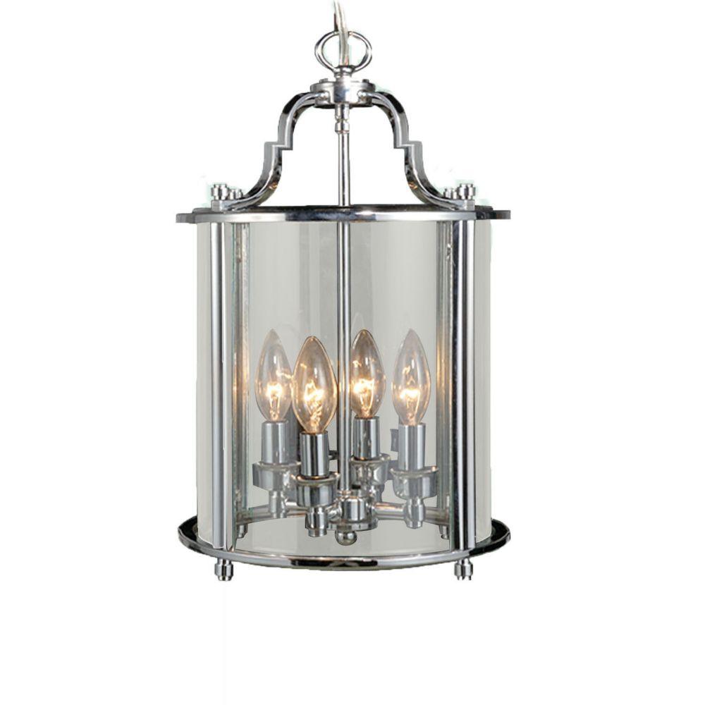 4 La Lumière Plafond Lanterne Chrome Terminer