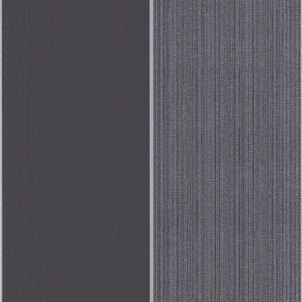 Bold Stripe Charcoal/Silver Wallpaper