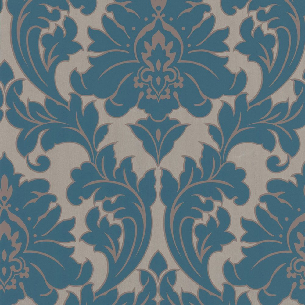 Majestic Teal/Gold Wallpaper
