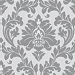 Graham & Brown Majestic Grey/Silver Wallpaper