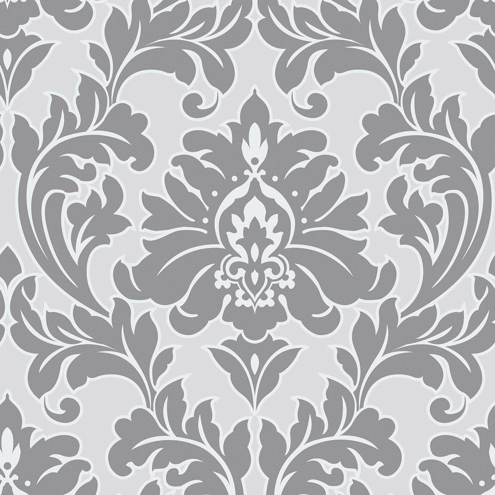 Majestic Grey/Silver Wallpaper