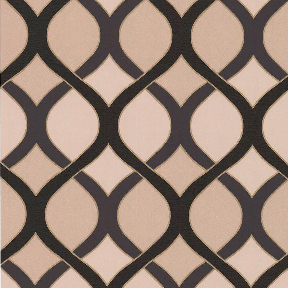 Highbury Black/Beige/Gold Wallpaper