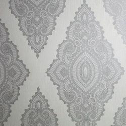 Graham & Brown Joyau Papier Peint Blanc/Argent