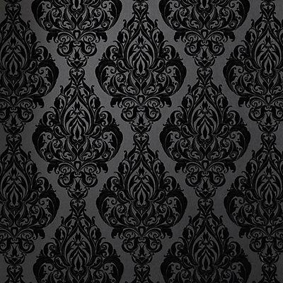 Kinky Vintage Black Wallpaper