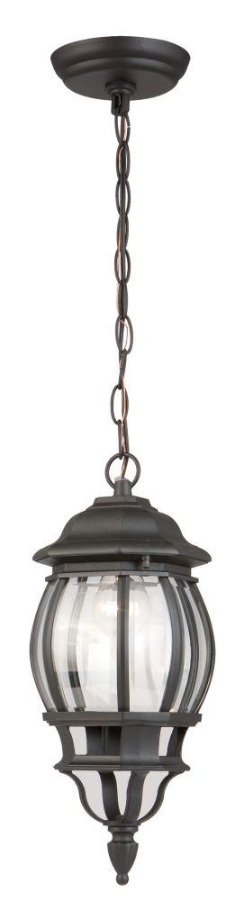 Extérieur lanterne suspendue - noir