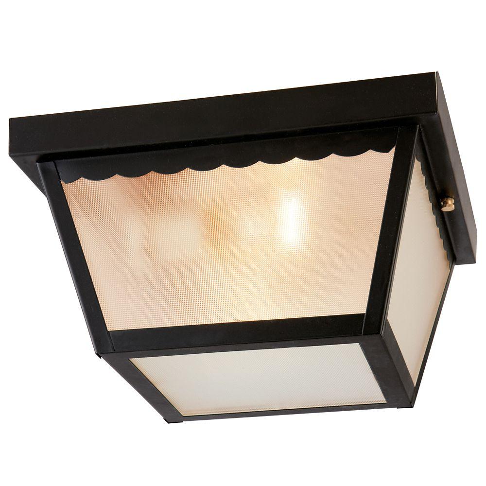 Exterior Ceiling Light - Black