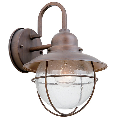 Hampton Bay Exterior Wall Lantern - Bronze | The Home Depot Canada