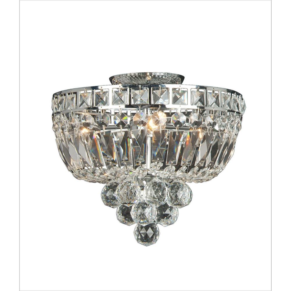 3 Light Ceiling Fixture Clear Finish