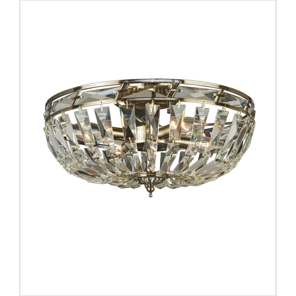 4 Light Ceiling Fixture Clear Finish
