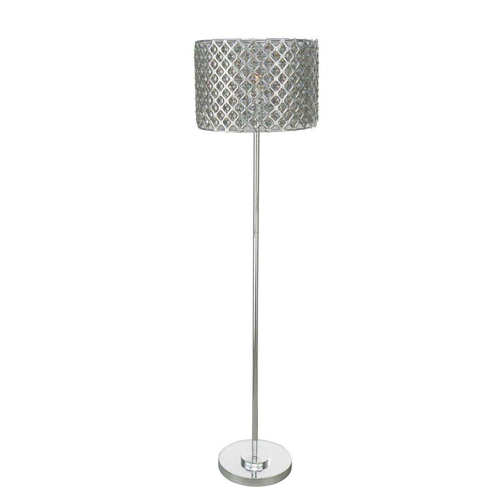1 Light Floor Lamp Silver Finish