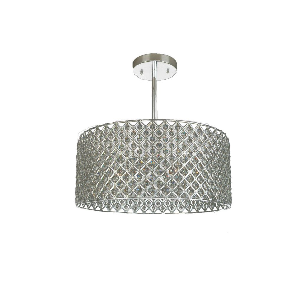 3 Light Ceiling Fixture Silver Finish