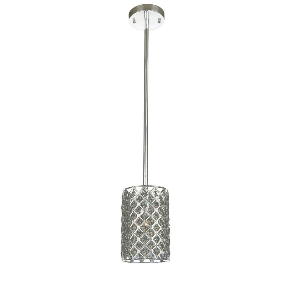 1 Light Ceiling Fixture Silver Finish