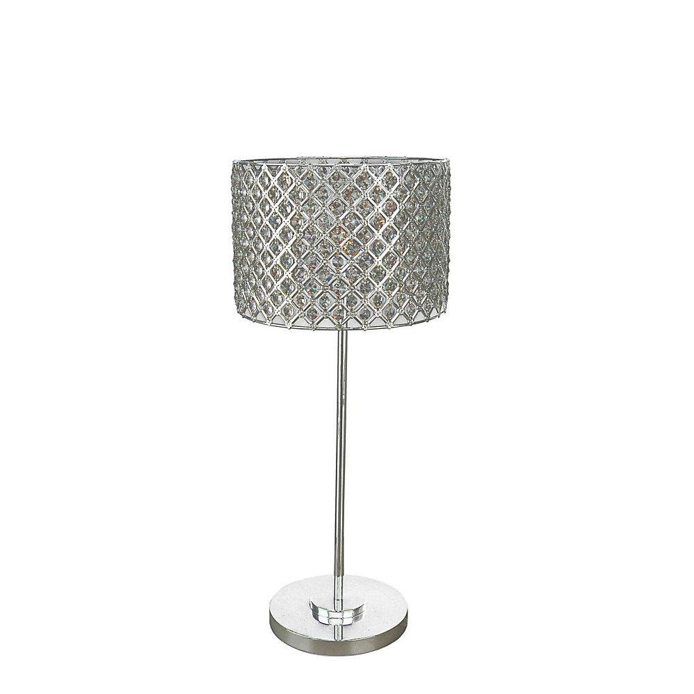 1 Light Table Lamp Silver Finish