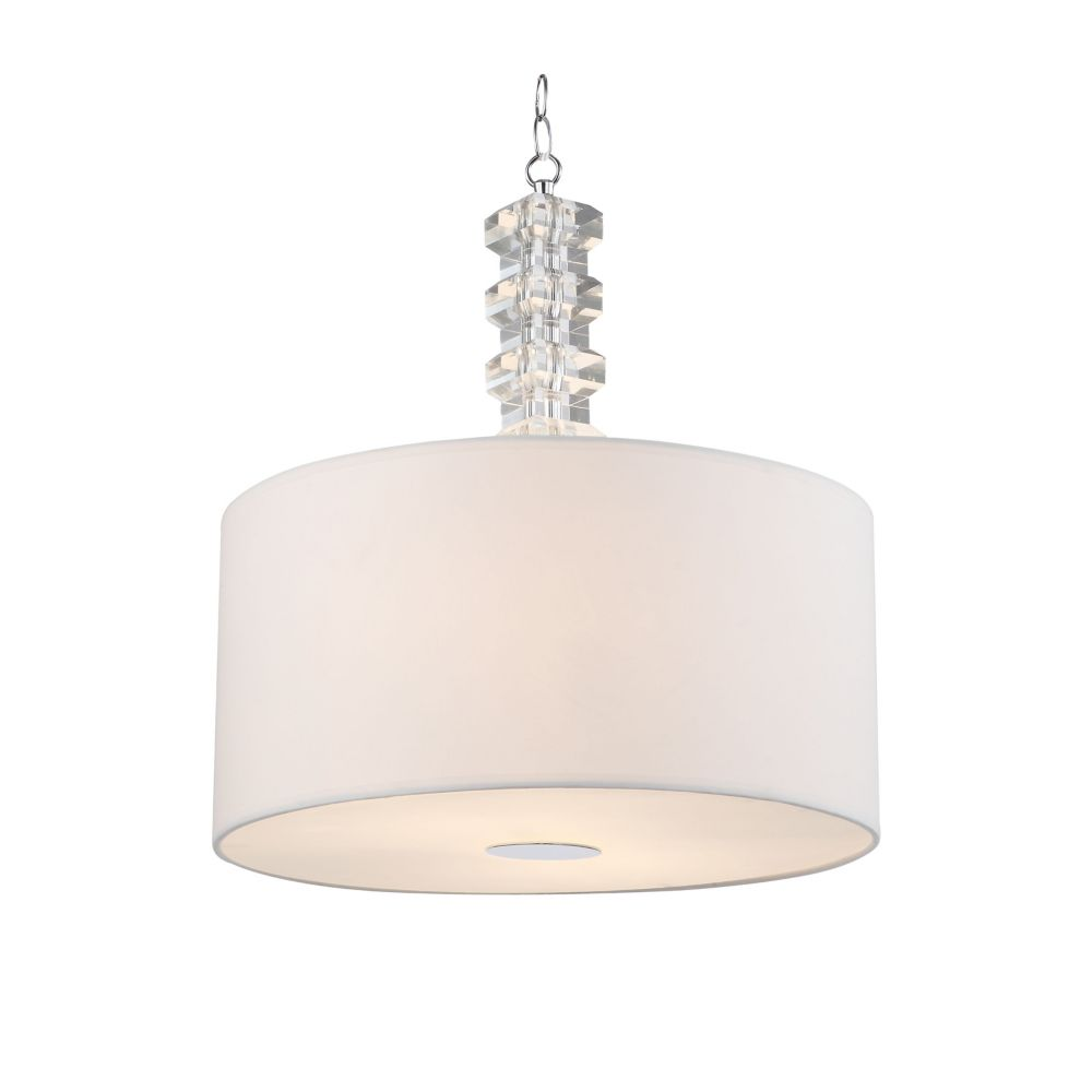 2 Light Ceiling Fixture With Cream Shades Cream Finish