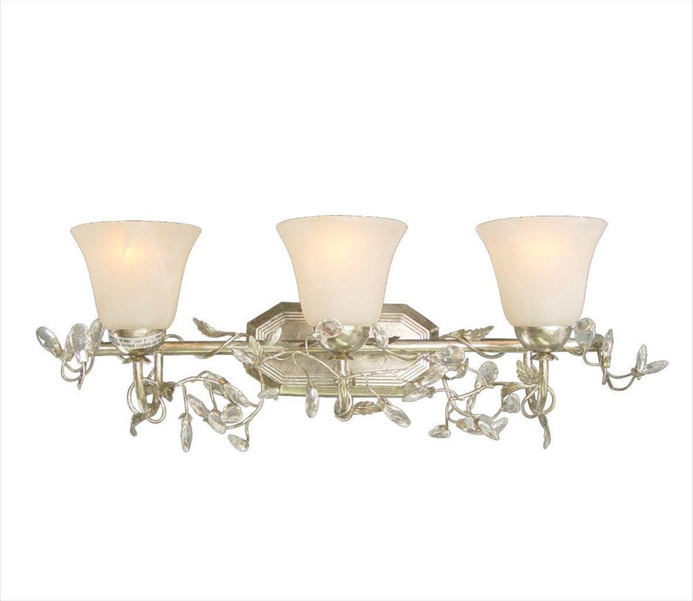3 Light Wall Sconce Silver Finish