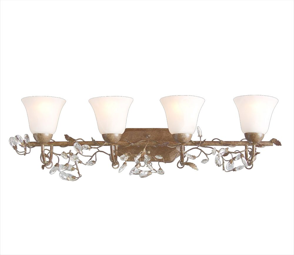 4 Light Wall Sconce Brown Finish